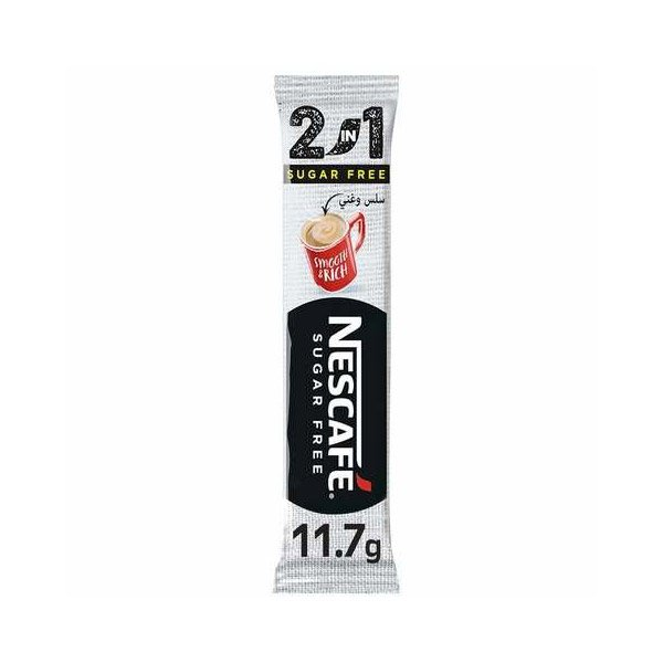 Nescafe 2 In 1 Sugar Free Instant Coffee Sachets 11.7g
