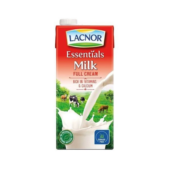 LACNOR LONG LIFE MILK FULL FAT 1L