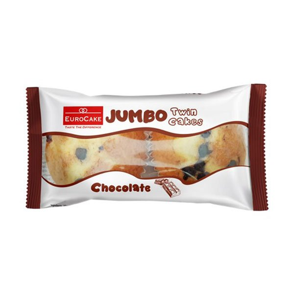 EUROCAKE JUMBO SWISS ROLL DOUBLE CHOCOLATE 60GM