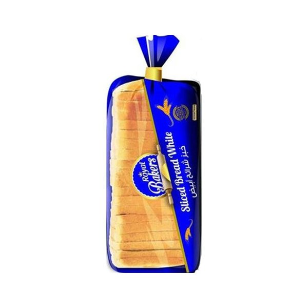 ROYAL BAKERS SLICED WHITE BREAD 600GM