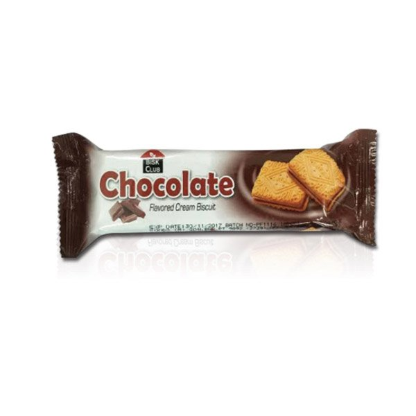 Bisk Club Chocolate Flavored Cream Biscuits 100g