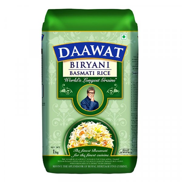 Daawat Extra Long Grain White Indian Basmati Rice 1kg