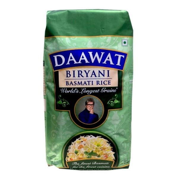 DAAWAT EXTRA LONG GRAIN WHITE INDIAN BASMATI RICE 2kg