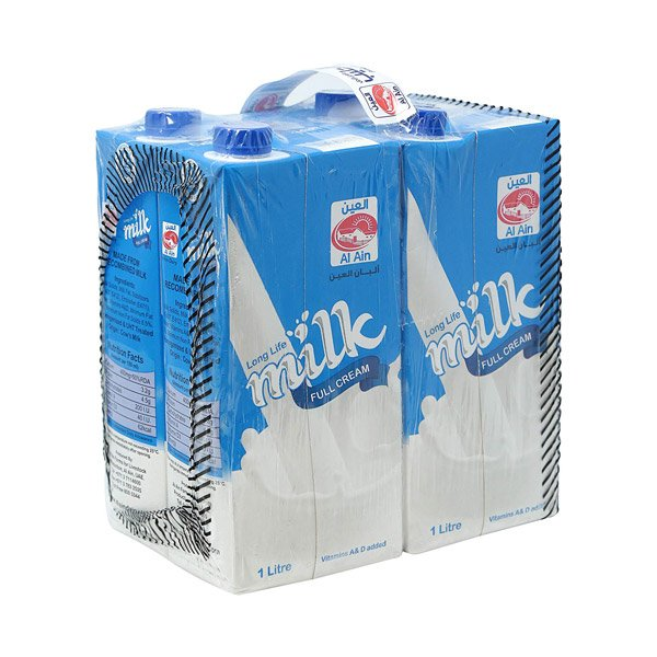 Al Ain Long Life Milk Tetra Pack (pack Of 4)