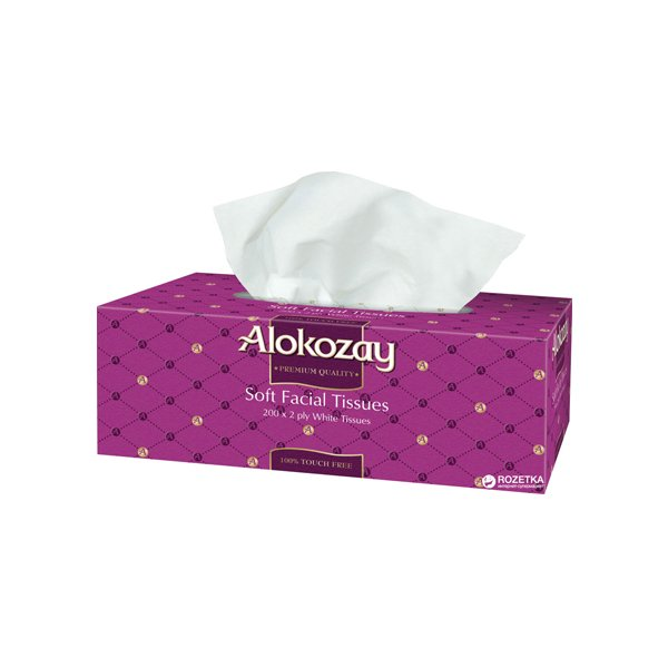 Alokozay Soft Facial Tissues 200s X 2ply