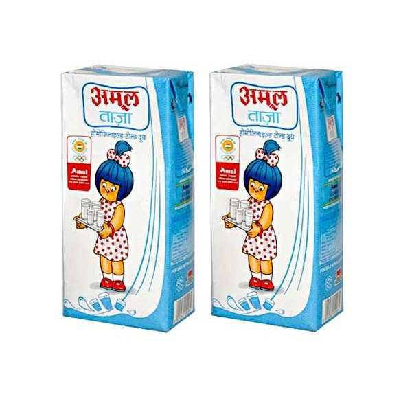 Amul Long Life Milk Tetra Pack (pack Of 4)