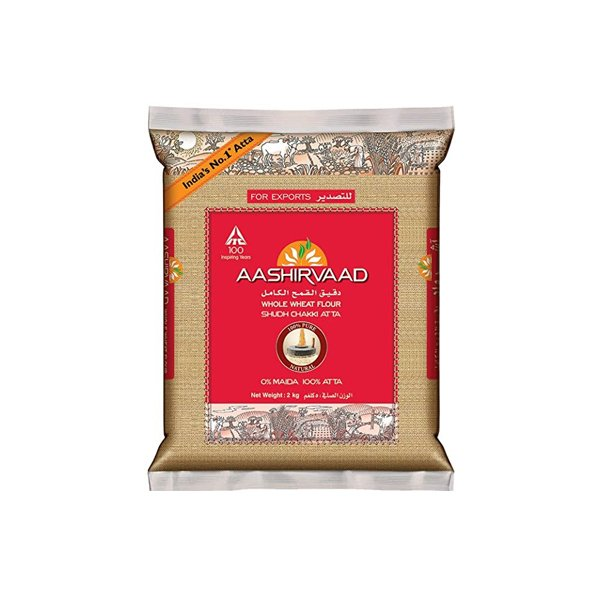 Ashirwaad Whole Wheat Atta 2kg