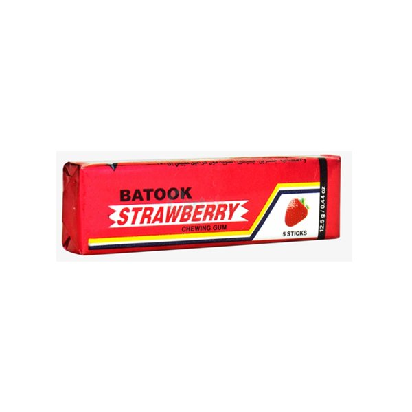 Batook Strawberry Chewing Gum 5 Sticks 12.5g