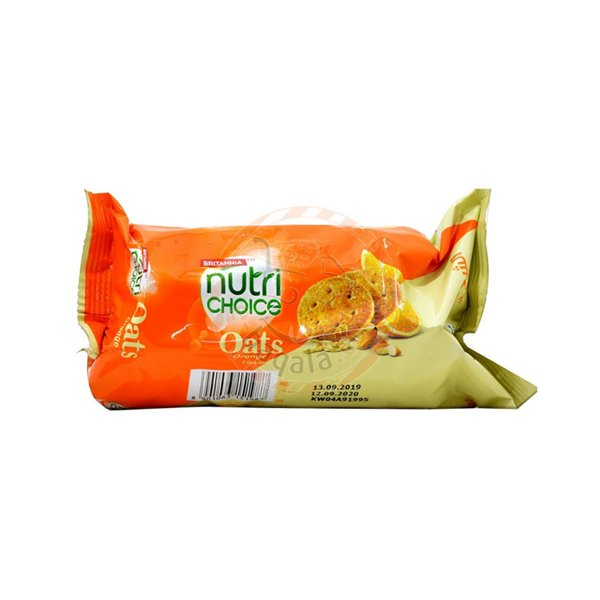 Britannia Nutri Choice Oat Cookies Orange 75g