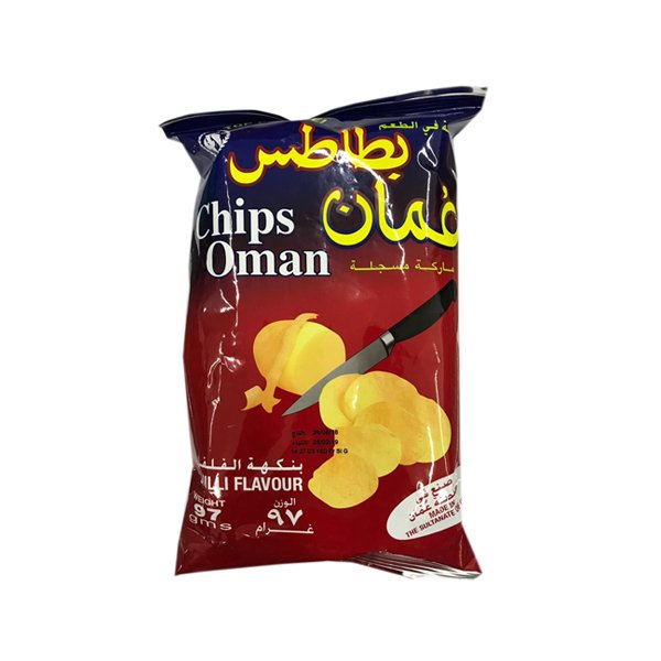 Chips Oman Chilli Flavour Large Size 97g