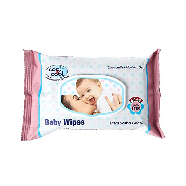 Cool&cool Baby Wipes 64+8 Wipes Free