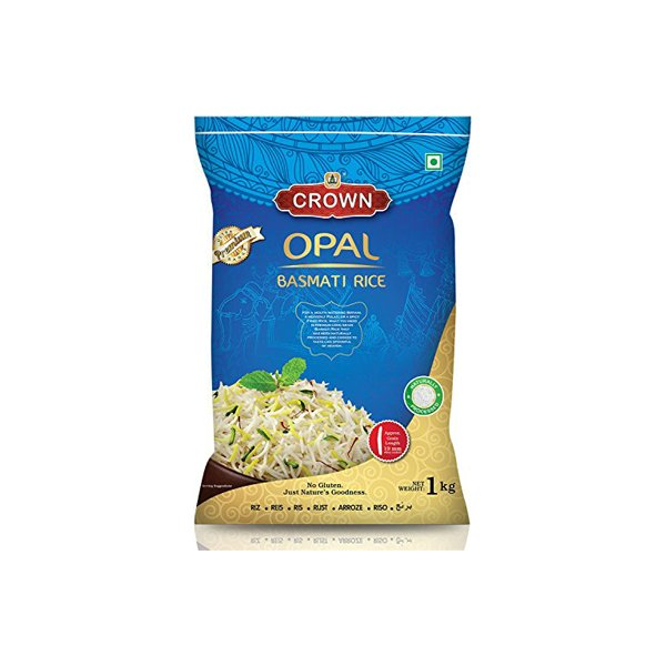 Crown Opal Basmati Rice - Extra Long Grain Biryani Rice 1kg