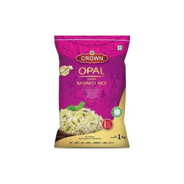 Crown Opal Basmati Rice - Super Biryani Rice 1kg