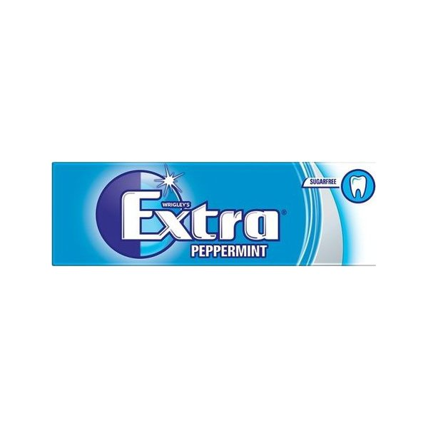Extra Peppermint Chewing Gum Sugar 14g