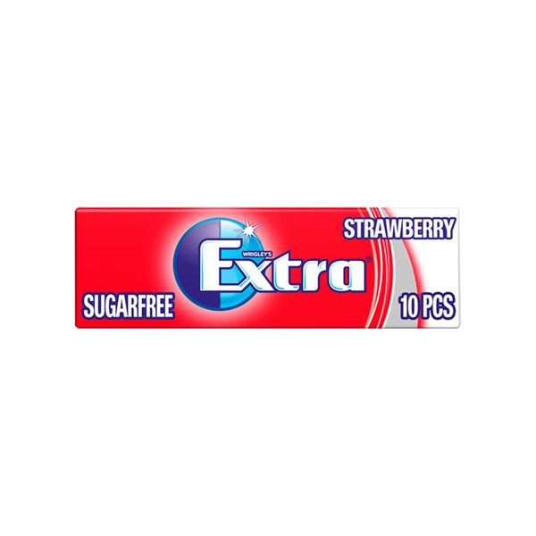 Extra Strawberry Chewing Gum Sugar 14g