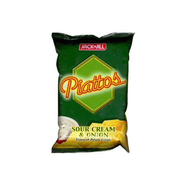Jack N Jill Piattos Potato Crisps Sourcrm And Onion 85 Gm