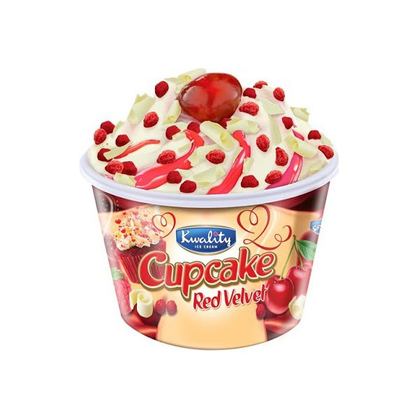 Kwality Ice Cream Cup Cake Red Velvet 150ml