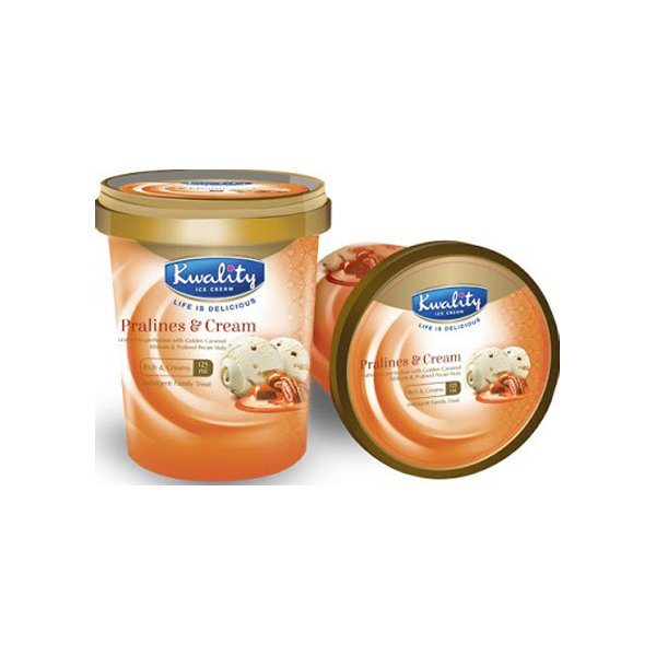 Kwality Ice Cream Praline & Cream Cup 125ml