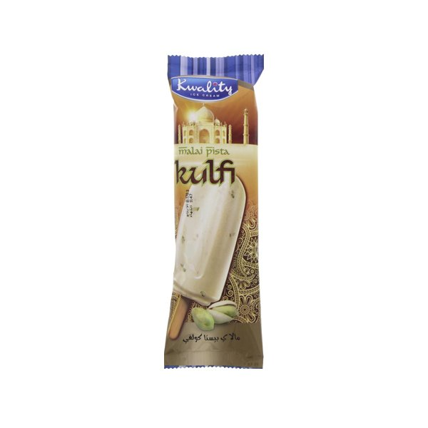 Kwality Malai Pista Kulfi Ice Cream Stick 1pc