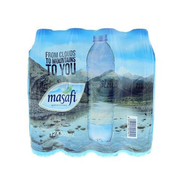 Masafi Bottled Drinking Water 500ml X Pack Of 12
