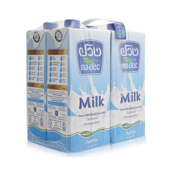 Nadec Long Life Milk Tetra Pack (pack Of 4)