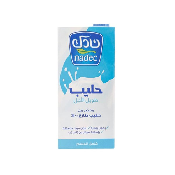 Nadec Uht Long Life Full Fat Milk 1l