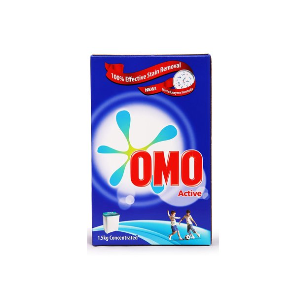 Omo Auto Active Powder Laundry Detergent 1.5kg