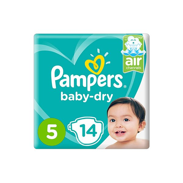 Pampers Active Baby Dry Diapers, Size 5, Junior, 11-18 Kg, Carry Pack, 14 Count
