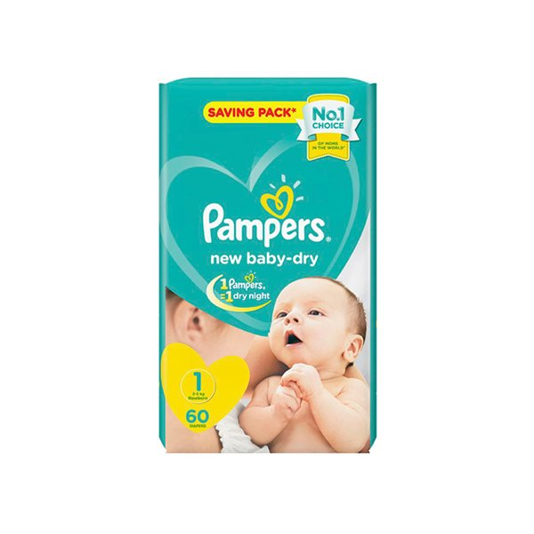 Pampers New Baby Dry Diapers, Size 2, Mini, 3-6kg, Carry Pack, 23 Count