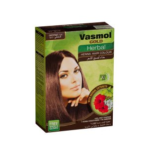 Vtika Vasmol Gold Herbal Hair Color Dark Brown 6x10g