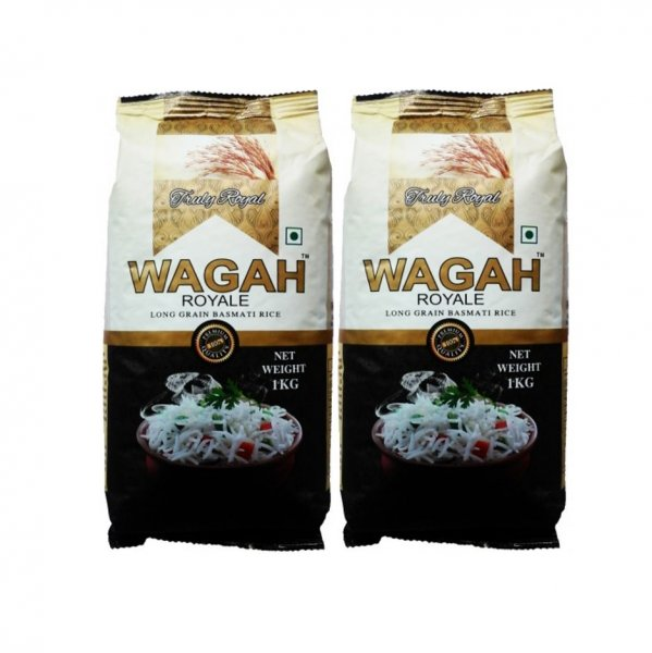 Wagah Long Grain Basmati Rice 2 X 1kg